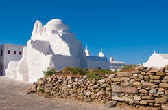 Old Paraportiani 14 century church on Mikonos in Greece Royalty Free Stock Photos