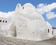 Old paraportiani churchon the island of Mykonos Stock Photo