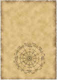 Old parchment. With zodiac Stock Images