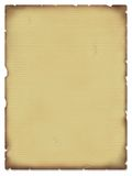 Old parchment. Illustration of a parchment blank sheet of paper Stock Image