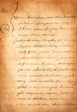 Old parchment. Dirty old paper  on white Royalty Free Stock Photography