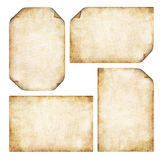 Old Parchment. Collection of old Parchment Backgrounds with corners folded Stock Image