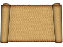 Old parchment. Ancient scrolls. Roll Of Parchment. brown old parchment, on a white background Royalty Free Stock Photos