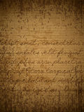 Old parchment. Old brown paper with hand written text in latin. EPS10 vector background Royalty Free Stock Photos