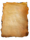 Old parchment paper against white Stock Images