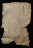 Old Parchment Paper Aged with Torn Edges Stock Photography
