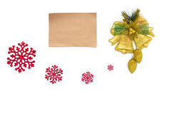 Old parchment paper with copy space on Christmas Stock Images