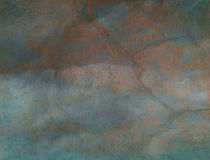 Old Parchment Paper With Grunge Green Tint Royalty Free Stock Images