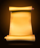Old parchment paper scroll Royalty Free Stock Photo