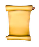 Old parchment paper scroll Royalty Free Stock Photography