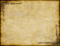 Old parchment paper texture. Great background of old parchment paper texture with ornate design vector illustration