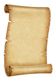 Old parchment scroll Stock Photo