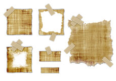 Old parchment textures royalty free stock images