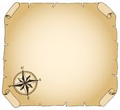 Old parchment. Vector illustration of an old brown parchment Royalty Free Stock Photo