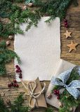 Old parchment for your wishes royalty free stock photo