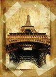 Old Paris. Old photo-album - Eiffel tower Stock Images