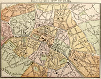 Old Paris Street Map royalty free stock photo