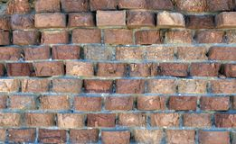Old parished brick wall royalty free stock photo