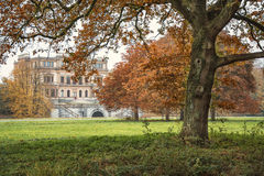 In the old park autumn. Autumn in the old manor park, gives a surprisingly beautiful autumn scenery Royalty Free Stock Image