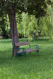 Old park bench Royalty Free Stock Images