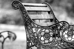 Old park bench. Old broken park bench stock photos