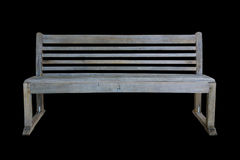 Old park bench isolated on black Royalty Free Stock Images