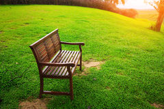 Old park and bench Royalty Free Stock Image