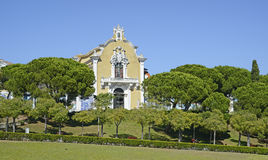In the old park in Lisbon in Portugal Royalty Free Stock Images