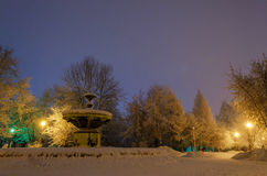 The old park in winter. Royalty Free Stock Image