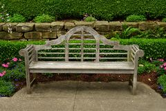 Old Park wooden bench stock photography