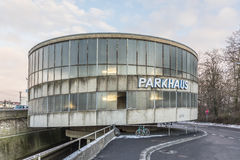 Old parkhaus in the style of 1960 architecture Stock Images