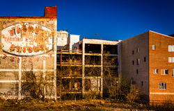 Old parking garage in Philadelphia, Pennsylvania. Royalty Free Stock Images