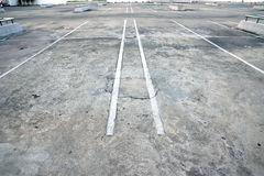 Old parking lot Royalty Free Stock Photo