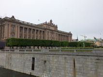 Old parliament. Building in Stockholm Royalty Free Stock Photo