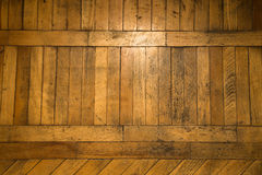 The old parquet floor with glare from windows Royalty Free Stock Images