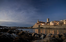 Old part of Antibes town. France Stock Image