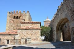 Old part of Caceres Stock Photography