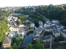 Old part of the City of Luxembourg Stock Photos
