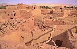 Old part of desert town Mut in Dakhla oasis, Egypt. Royalty Free Stock Photo