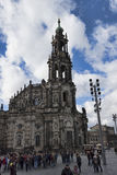 The old part of Dresden is always full of tourists Royalty Free Stock Photography