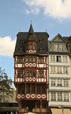 Old part of Frankfurt. A very old building in the old town in Frankfurt Germany Royalty Free Stock Image