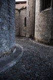 Old part of Gerona. A pedestrian zone in the old part of Gerona Royalty Free Stock Photos
