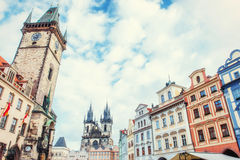 The old part of Prague taken from Charles Bridge Royalty Free Stock Photography
