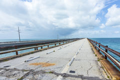 Old part of the seven miles bridge Royalty Free Stock Photos