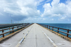 Old part of the seven miles bridge Stock Images