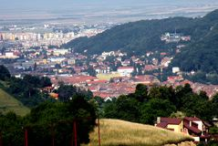 Old part of the town Brasov (Kronstadt), Transilvania, Romania Royalty Free Stock Photography