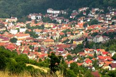 Old part of the town Brasov (Kronstadt), Transilvania, Romania royalty free stock photos