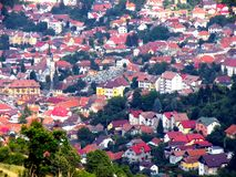 Old part of the town Brasov (Kronstadt), Transilvania, Romania Stock Photography