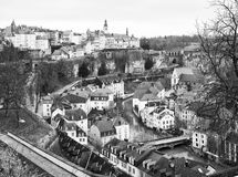 The old part of the town in Luxembourg. Stock Photography