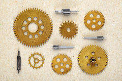 Old parts of clockwork Royalty Free Stock Photo